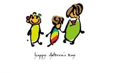 手绘儿童节标识图片