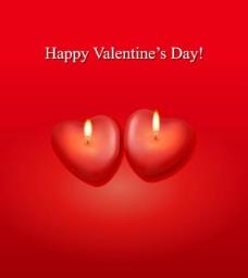 情人节爱心蜡烛矢量图片