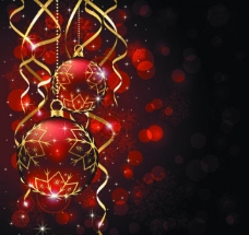 圣诞彩球图片