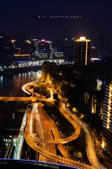 重庆立交桥夜景图片