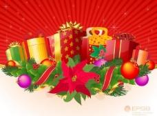 礼盒圣诞节背景图片