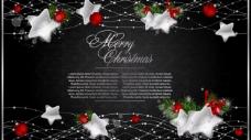 欧式花纹星星圣诞背景图片