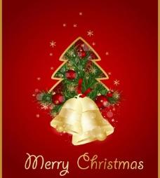 圣诞树铃铛圣诞背景图片