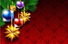 欧式花纹 圣诞节背景图片