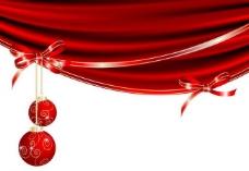 动感丝绸蝴蝶结圣诞背景图片