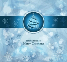蓝色动感线条圣诞节背景图片