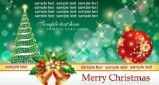 绿色圣诞节背景图片