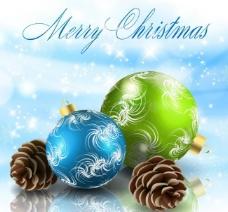 圣诞球圣诞背景图片