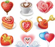 爱心天鹅草莓咖啡玫瑰图片