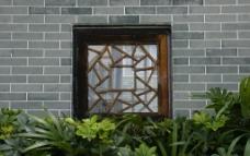 方形木框窗子图片