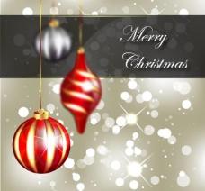 圣诞球梦幻圣诞背景图片
