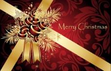 圣诞节花纹背景图片