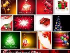 动感线条梦幻圣诞背景图片
