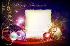 动感光线线条梦幻圣诞背景图片
