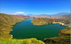 湖泊蓝天图片