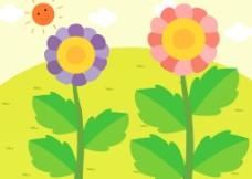 卡通花园图片