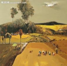 古典风景油画图片