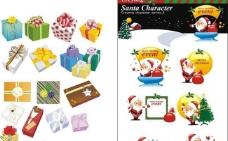 圣诞节礼物和圣诞老人图片