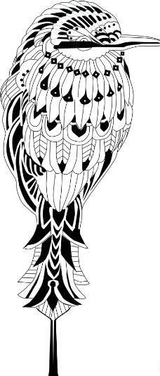 鸟 黑白图片