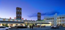 和平商业广场夜景效果图片