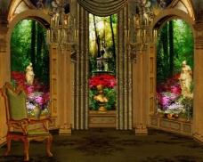 欧式室内场景图片