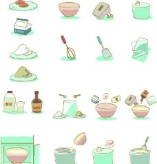 卡通冰淇淋制作餐具图片