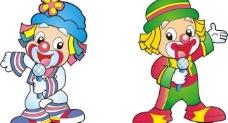 卡通小丑主持图片