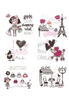 女童图案图片