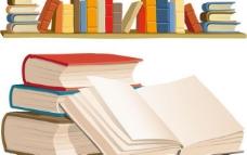 书本书架矢量素材图片