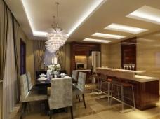 餐厅环境装饰效果图图片