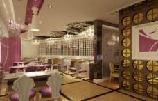 餐厅环境效果图图片