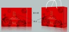 大红玫瑰 手提袋 (平面图)图片