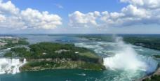 尼亚加拉大瀑布全景图片