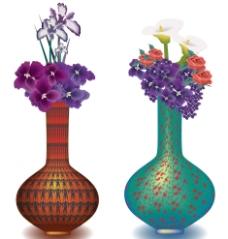 复古花瓶图片