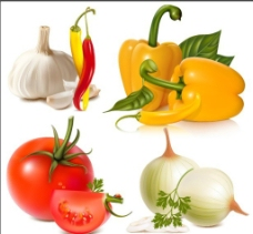 洋葱西红柿大蒜辣椒图片