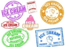 冰淇淋印章标签邮戳图片