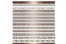 中国风 线条 铜门图片