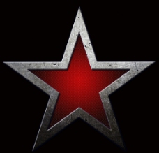 金属五角星图片