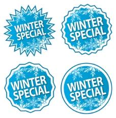 冬季促销标签