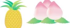 水果 菠萝 桃图片