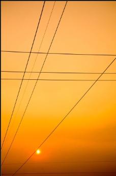 日落的风景线图片
