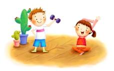 运动中的小孩