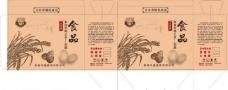 无公害食品牛皮纸包装图片