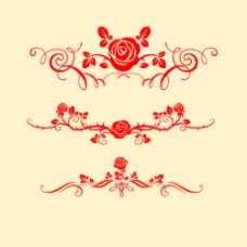 漂亮的玫瑰花纹笔刷
