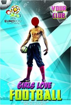 欧洲杯足球赛主题海报