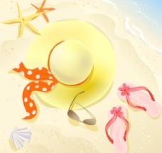 夏季热带度假背景图片
