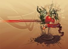 草莓 矢量花纹图片