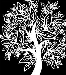 树木雕花素材图片