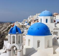 蓝顶建筑风景拍摄