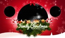 圣诞节海报 圣诞家庭派对(内容无人物)